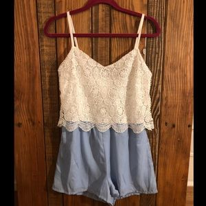 NWT Charlotte Russe size medium lace romper